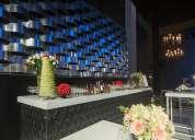 Salas lounge, jugos de cockel, barras, sillones, fiestas, toldos