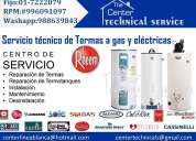 Reparacion rhemm 996091097/♫servicio tecnico  termas electricas/gas