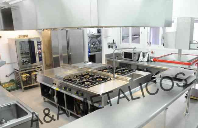 cocina industrial de 1,2,3.. hornillas en acero inoxidable A&A METALICOS