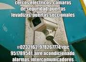 Cámaras de seguridad, alarmas contra incendios, radio