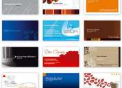 Tarjetas personales full color oferta s./ 40