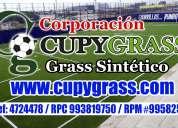 Fútbol césped artificial cupy grass