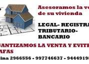 Vendemos su propiedad con garantia legal en lima