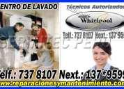 Reparaciones garantizadas de lavadoras whirlpool en la molina → 7992752