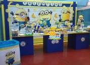 DecoraciÓn de los minions para fiestas infantiles lima
