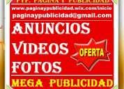 40 usd, publicistas, mega publicidad, clasificados, videos. lima,