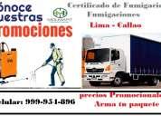 Fumigaciones de camiones, certificado de fumigacion