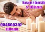 Masajes por liliana a domicilio y hoteles
