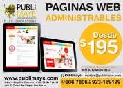 Incremente sus ventas .. tu pagina web !! a tu medida
