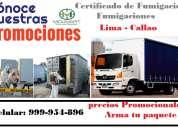 Certificado de fumigacion, fumigaciones de camiones, empresa de fumigacion en el callao