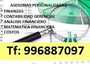 Clases de contabilidad , evaluacion de proyectos y finanzas cpel usil upc