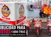 Rotulado para motos delivery