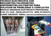 Electricista a miraflores domicilio amperio 991473178 - 971654372