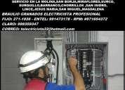 Electricista lima a domicilio cambios 991473178 - 998359347