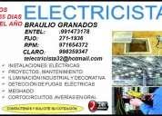 //las 24 horas// electricista a domicilio 991473178 - 971654372