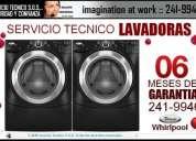 100%// servicio tÉcnico de lavadoras //lg **241-9946**