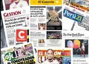 Suscripcion diarios peruanos, el comercio peru21 gestion trome y mas