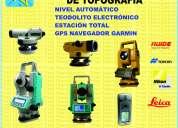 Alquiler de equipos de topografía,teodolito electrónico,nivel automático, estación total