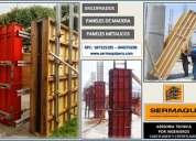 Venta encofrados madera y metalicos venta y alquiler paneles con bastidores, triplay fenolico venta