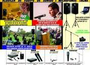 Alquiler de parlantes activos y micrófonos tacna