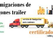 Fumigaciones de camiones, fumigaciones de furgon, certificado de fumigacion de camiones