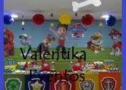 Patrulla  canina  ,paw  patroll ,decoración  para fiestas  infantiles , toldos , candy bar