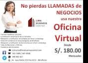 Servicios de oficinas virtuales