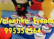 Decoraciones   para fiestas  infantiles de pokemon go