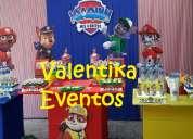 Paw  patrol, candy bar  para fiestas  infantiles , decoraciones temáticas en  lima