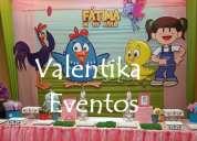 Fiestas  infantiles de la  gallinita  pintadita  , decoración , candy bar  , toldos en lima