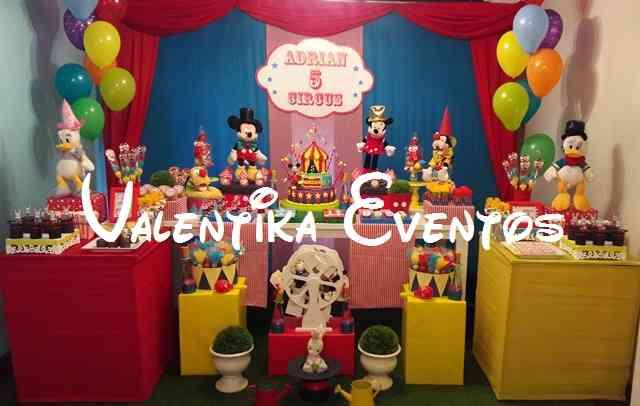 El circo de mickey mouse decoraciones para fiestas - Decoracion para fiestas infantiles mickey mouse ...