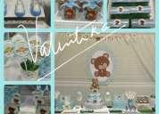 Torta  de  pañales  ,decoración temática  para baby shower  en lima