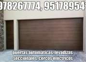 Cercos eléctricos cajamarca, puertas levadizas, puerta seccional