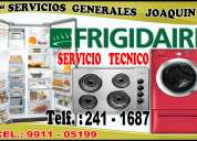 Servicio técnico // frigidaire  // lavadoras, centro de lavado, refrigeradoras  241-1687