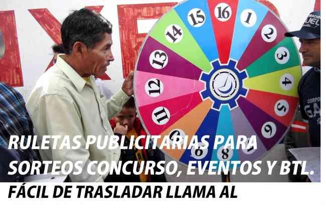 RULETAS PUBLICITARIAS, RULETAS CORPORATIVAS, CORPOREOS PUBLICITARIOS