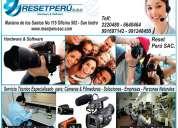Reparacion de  camaras digitales fotograficas , filmadoras todos los modelos en lima san isidro peru