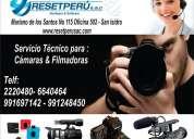 Reparacion de camaras digitales canon, panasonic, sony, go pro etc lima-peru