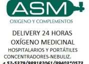 OxÍgeno medicinal - delivery 24 horas - alquiler - venta - recarga