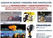Mantenimiento y reparacion de miniexcavadoras y minicargadores