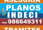 planos indeci arquitectura, evacuacion, señalizacion, plan de seguridad contingencia defensa civil