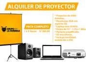 alquiler de proyector multimedia- paquete completo para conferencias