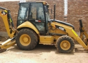 Vendo esta retro excavadora cat420e año 2011, buen estado.