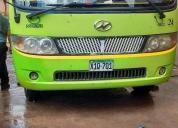 Vendo  minibus higer