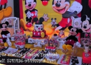 Mickey, mouse, decoración, fiesta, tortas.