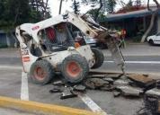 Alquiler de minicargador bobcat retroexcavadora excavadora