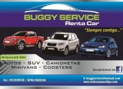 Buggy service renta car, contactarse.