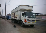 transporte de carga pesada y mudanzas. contactarse.