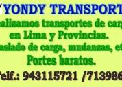 Servicio de transporte de carga. contactarse.