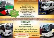 Alquiler de buses , minibuses, coasters, combis y vans ! consultar precio!