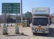 Servicios a provincias con furgones cerrados.